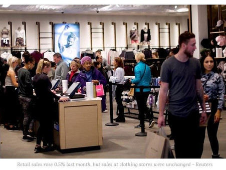 U.S. retail sales improve in May, clothing stores unchanged