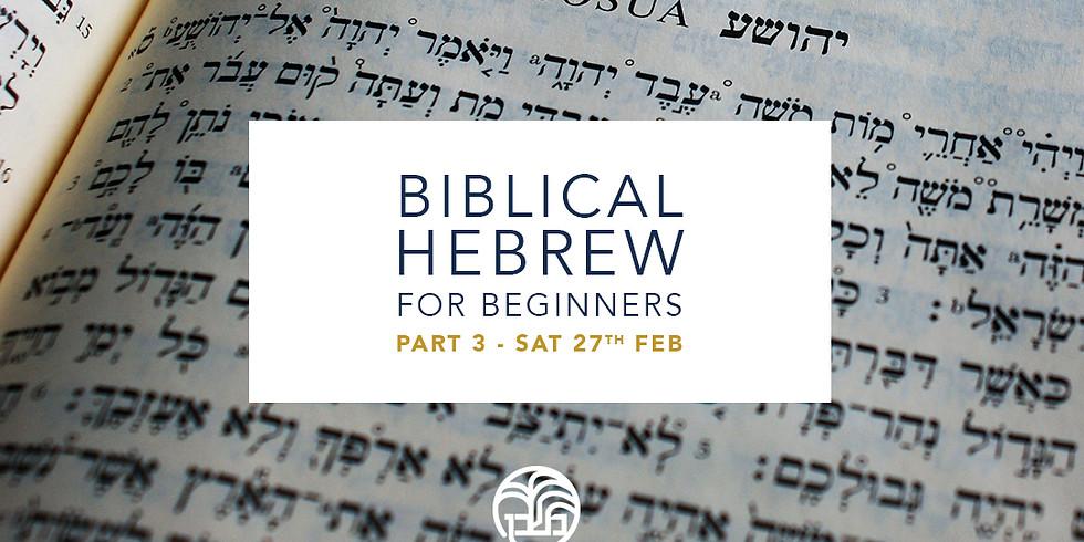 Biblical Hebrew for Beginners, Part 3