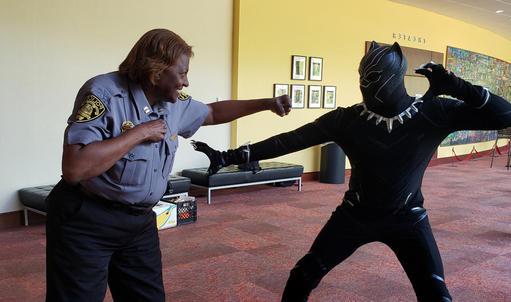 Capt. Tukes Battle the Black Panther