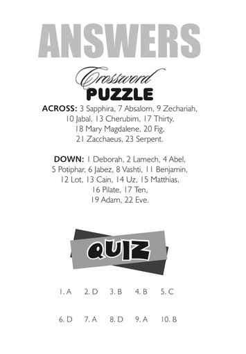 ANSWERS: Puzzle & Quiz