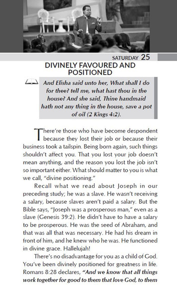 DIVINELY FAVOURED AND POSITIONED