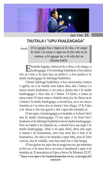"""TAUTALA I """"UPU FAALEAGAGA"""""""