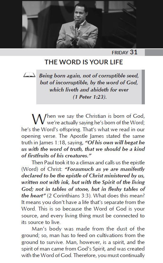 THE WORD IS YOUR LIFE