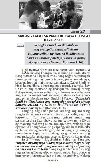 MAGING TAPAT SA PANGHIHIKAYAT TUNGO KAY CRISTO