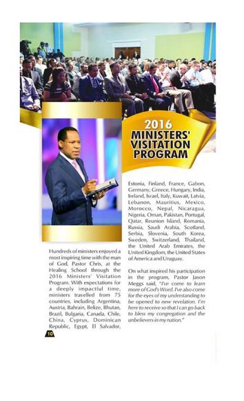 2016 MINISTERS VISITATION PROGRAM