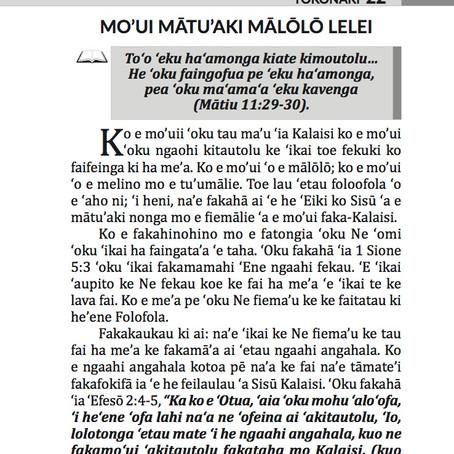 MO'UI MĀTU'AKI MĀLŌLŌ LELEI