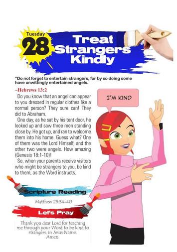 TREAT STRANGERS KINDLY