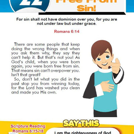 YOU'RE FREE FROM SIN!