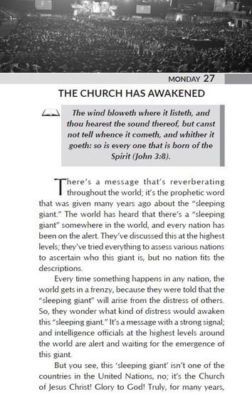 THE CHURCH HAS AWAKENED