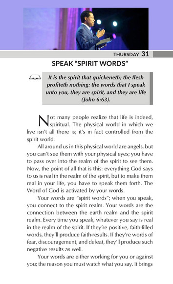 "SPEAK ""SPIRIT WORDS"""