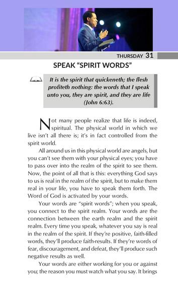 """SPEAK """"SPIRIT WORDS"""""""