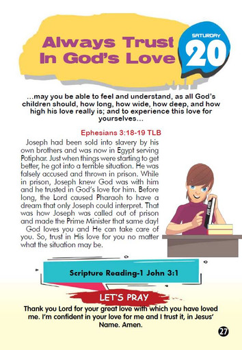 ALWAYS TRUST IN GOD'S LOVE