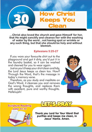 HOW CHRIST KEEPS YOU CLEAN
