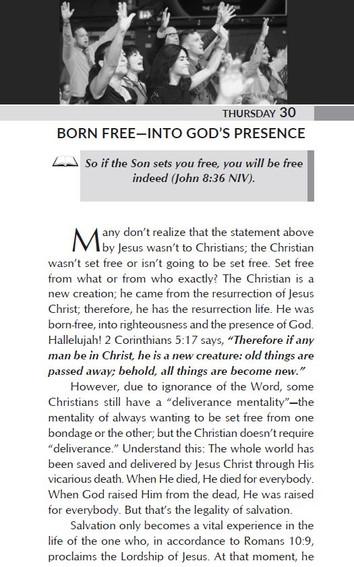 BORN FREE-INTO GOD'S PRESENCE