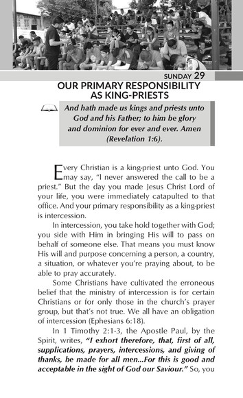 OUR PRIMARY RESPONSIBILITY AS KING-PRIESTS