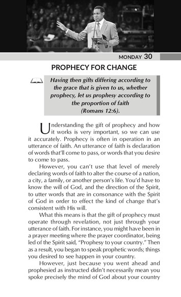 PROPHECY FOR CHANGE