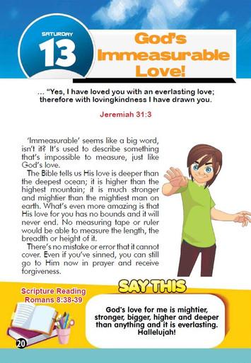 GOD'S IMMEASURABLE LOVE!