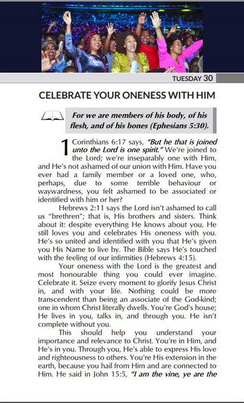 CELEBRATE YOUR ONENESS WITH HIM