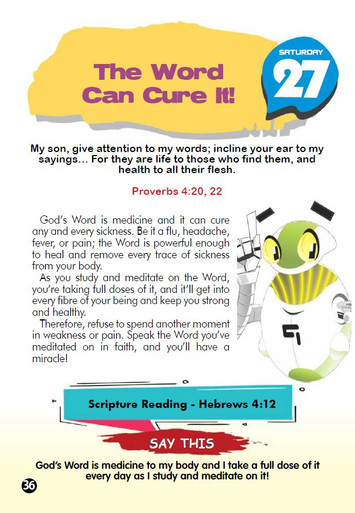 THE WORD CAN CURE IT!