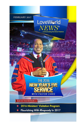 THE NEW YEAR'S EVE SERVICE