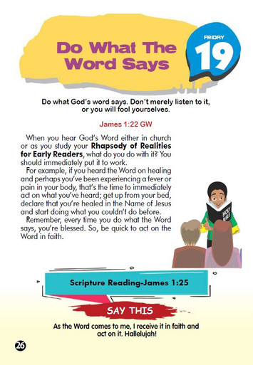 DO WHAT THE WORD SAYS