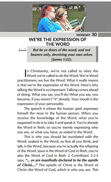 WE'RE THE EXPRESSION OF THE WORD