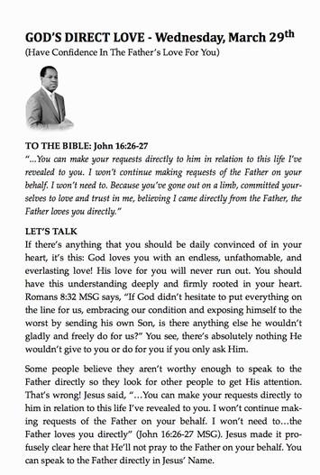 GOD'S DIRECT LOVE