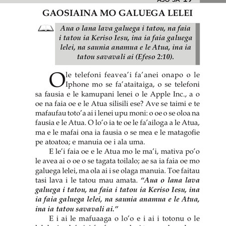 GAOSIAINA MO GALUEGA LELEI