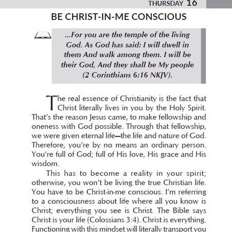 BE CHRIST-IN-ME CONSCIOUS