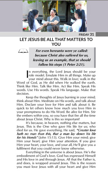 LET JESUS BE ALL THAT MATTERS TO YOU