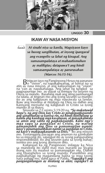 IKAW AY NASA MISYON