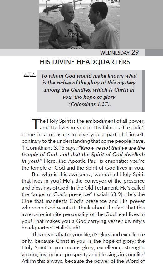 HIS DIVINE HEADQUARTERS