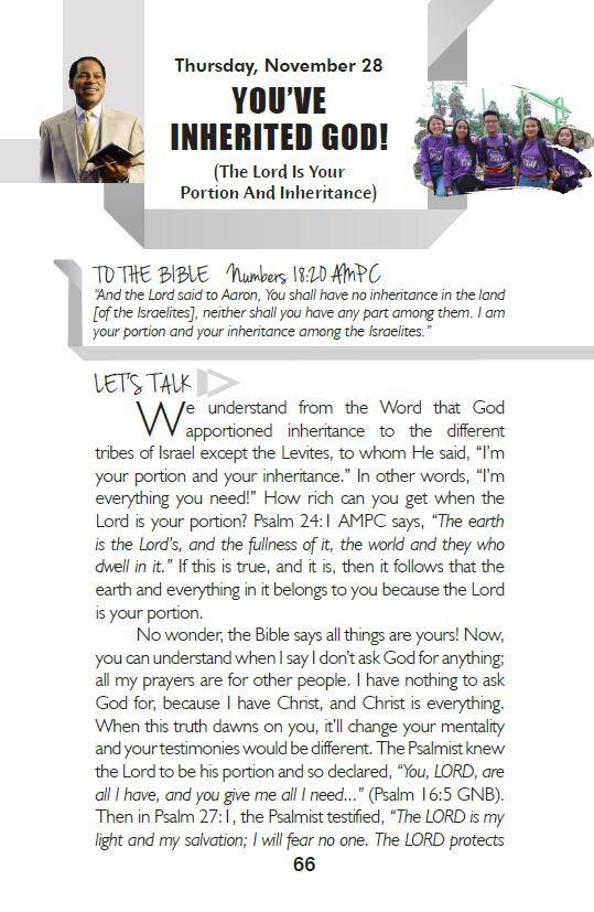 YOU'VE INHERITED GOD!