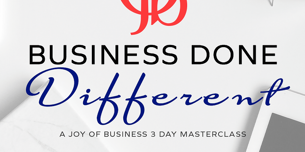 Business Done Different Masterclass