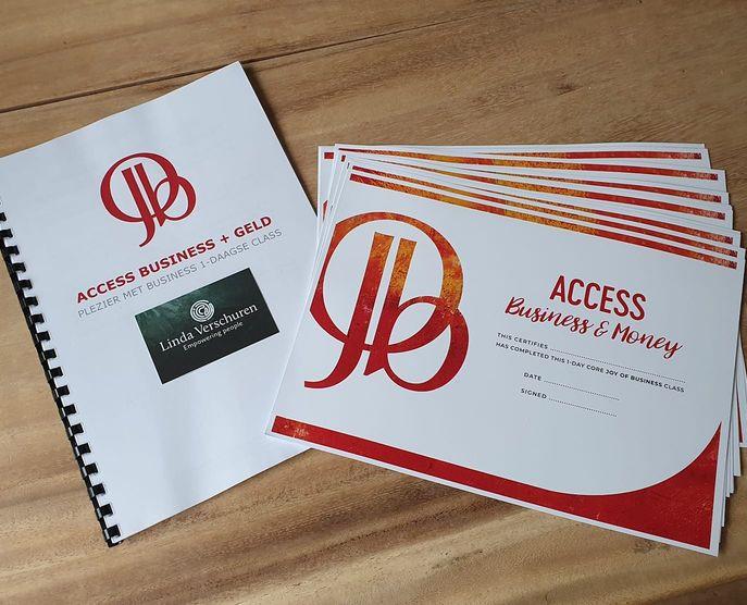 manual en certificaat, joy of business