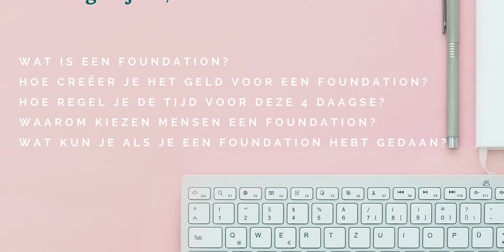 Gratis informatie Zoom over De Foundation