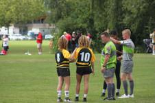 Provincial Regional Championships - Sisters between games.
