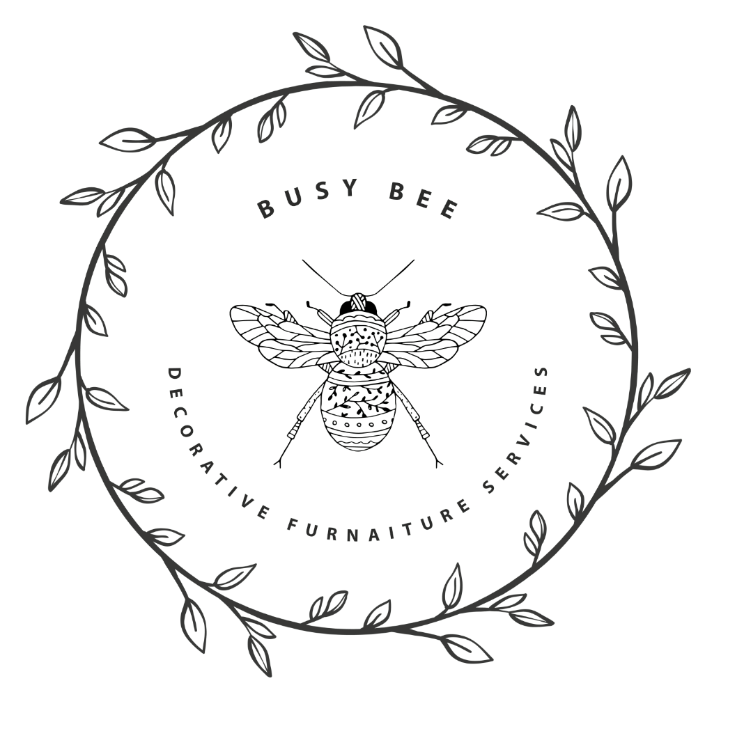 Simple logo created for Busy Bee Decorative furnaiture services.