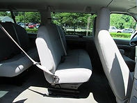 van vehicile picture of the inside of the SUV to casino or weddig