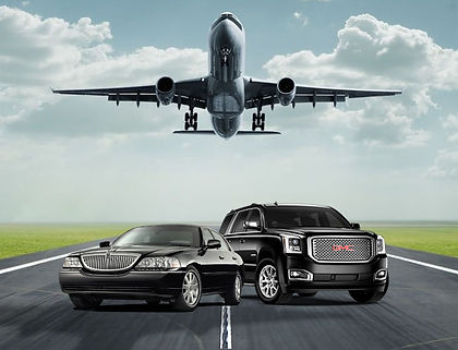 Airport limo SUV picture for transporting