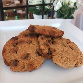 Cookies&cream de plátano con almendras.