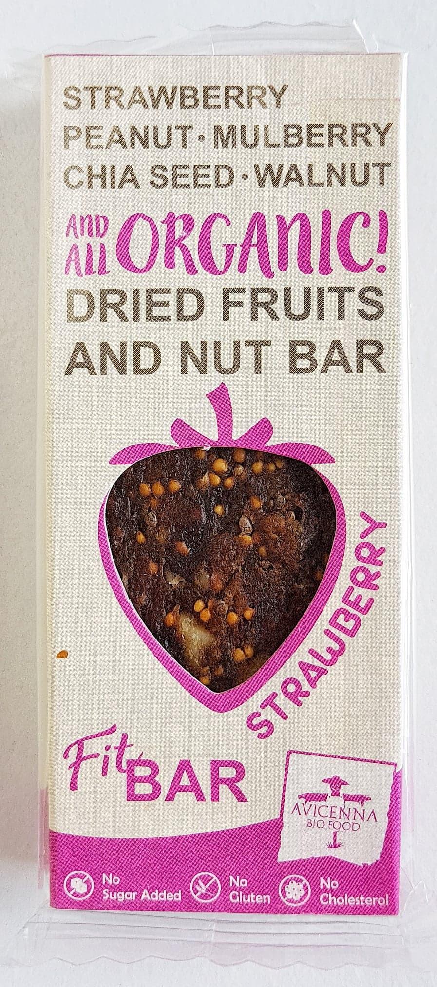 Avicenna Bio Food Fit Bar Strawberry