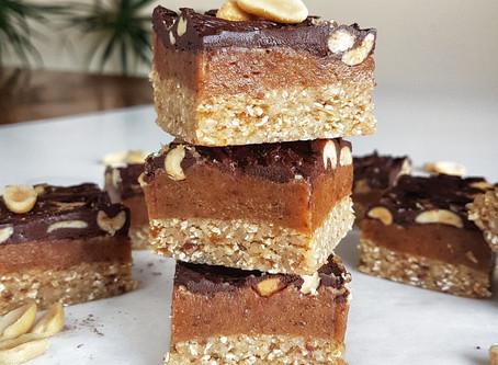 Raw Vegan Snickers Slice