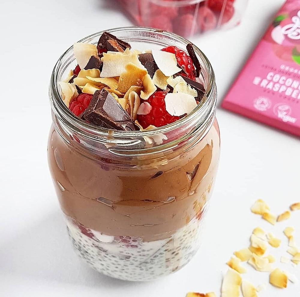 Raspberry & Coconut Chia Pudding