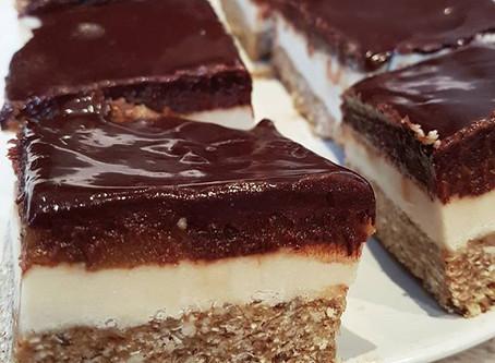 Vegan Cashew Cream Caramel Slice