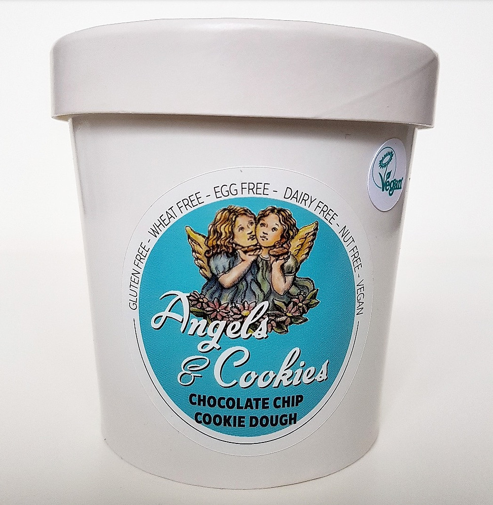 angels and cookies chocolate chip cookie dough