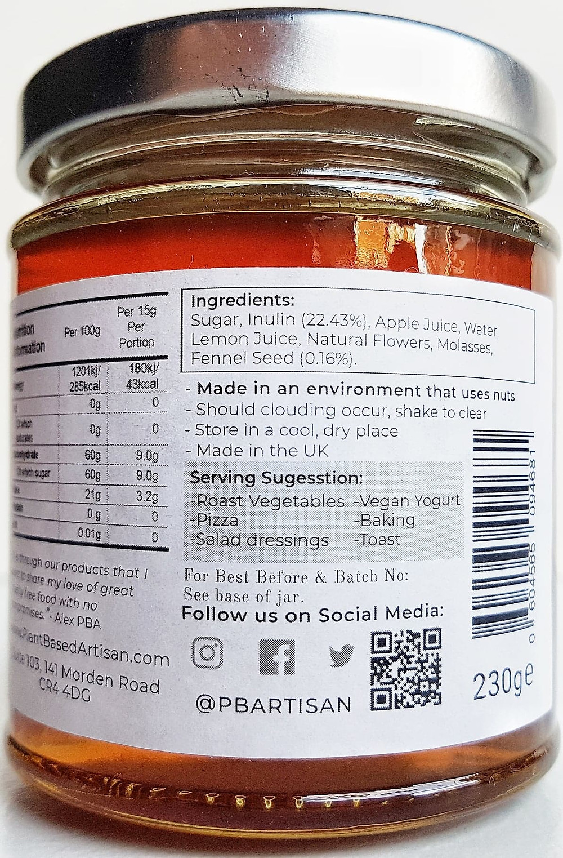 Plant Based Artisan vegan honey Fennel Seed Ingredients