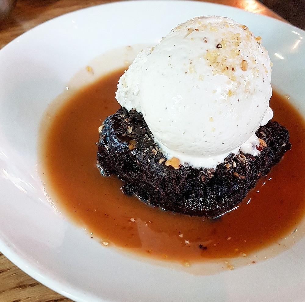 Mildreds Restaurant Chocolate Hazelnut Brownie
