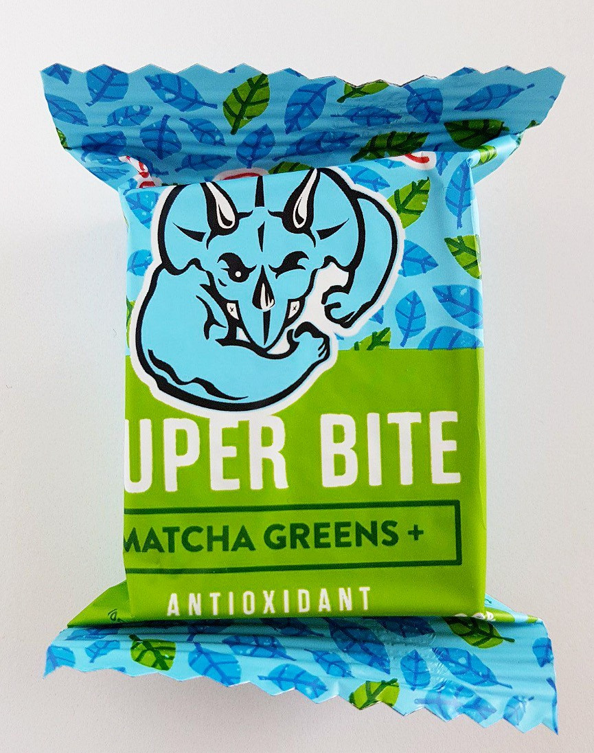 Blue Dinosaur Super Bite Bar Matcha Greens