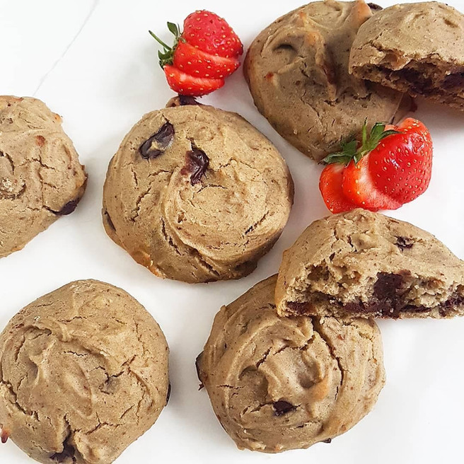 Chocolate Filled Buckwheat Cookies